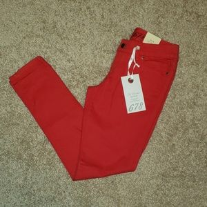 BNWT The Limted 578 Jeans in Red -Size 2